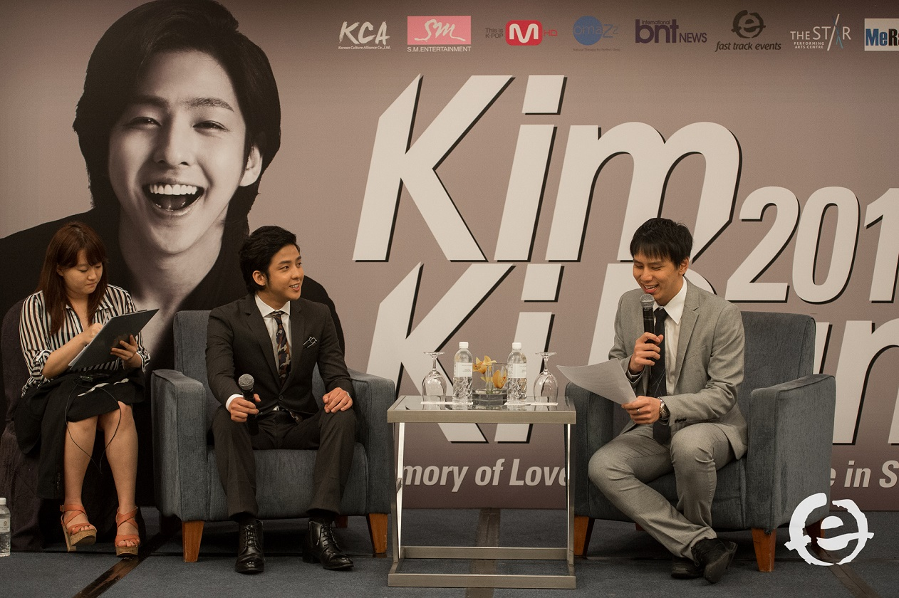 Emcee Lester Leo with Korean superstar Kim Kibum