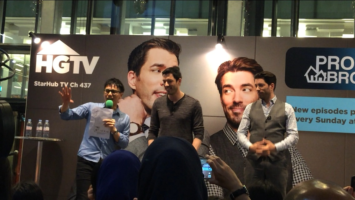 HGTV Property Brothers live in Singapore with Emcee Singapore Lester Leo