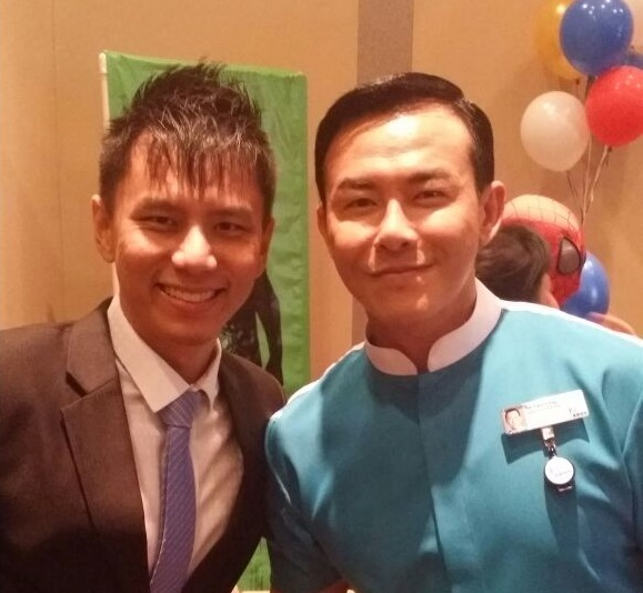 Celebrity Bryan Wong with Emcee Singapore Lester Leo