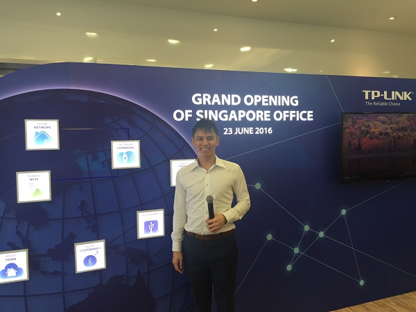 Tp Link Event Launch And Opening Of Sg Office Singapore Emcee Lester Leo