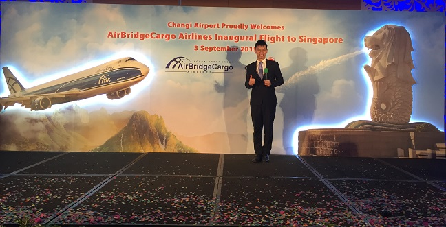 AirBridgeCargo Airlines inaugural flight into Singapore with Russian Ambassador