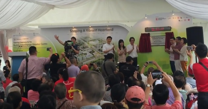 Bedok Interchange Hawker Grand Opening with Minister