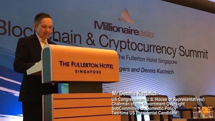 Blockchain Summit with US Congressman Mr Dennis Kucinich and Emcee Lester Leo