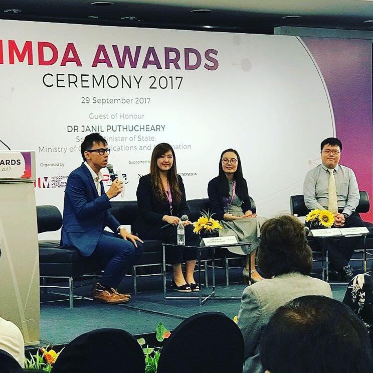 Emcee Lester Leo for IMDA Awards Ceremony 2017