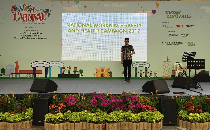 Launch of National Workplace Safety and Health Campaign 2017 with Minister Chan Chun Seng and Minister of State Sam Tan Ministry of Manpower