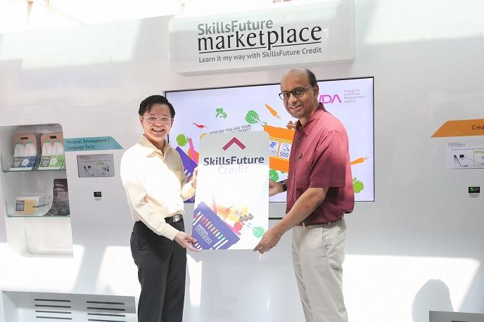 Launch of SkillsFuture marketplace DPM Tharman