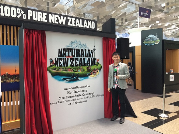 Naturally New Zealand launch with Her Excellency Mrs Bernadette Cavanagh hosted by Emcee Singapore Lester Leo