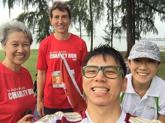 SATS Charity Run with Temasek CEO Ho Ching