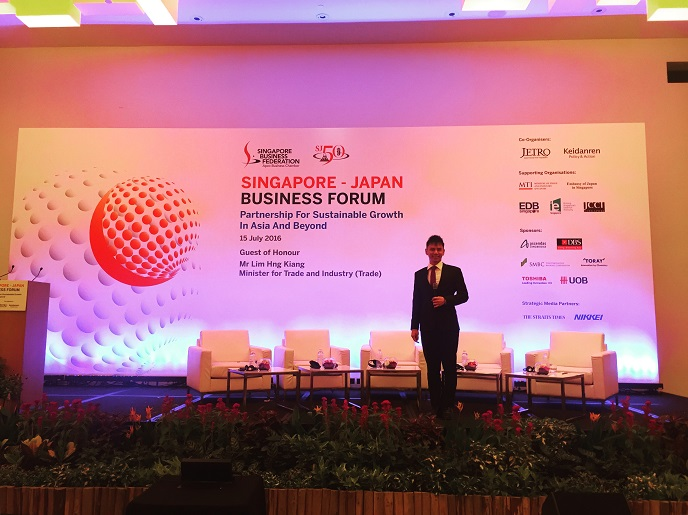 Singapore Japan Business Forum with Emcee Lester Leo