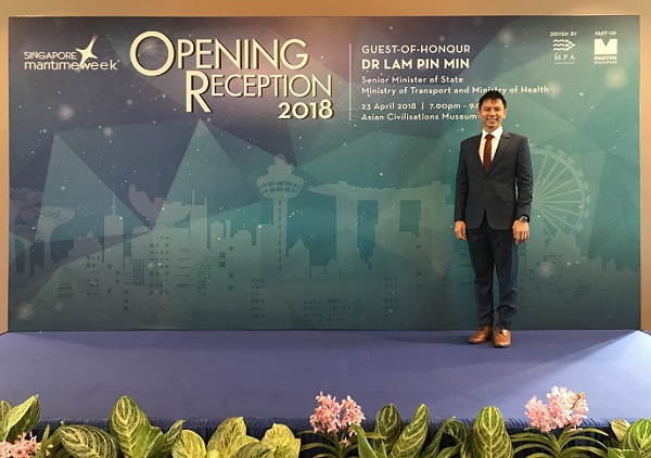 Singapore Maritime Week Opening Reception with Senior Minister of State Lam Pin Min