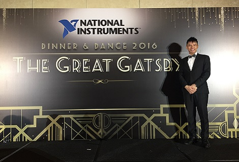 Corporate event emcee Singapore Lester Leo for National Instrument