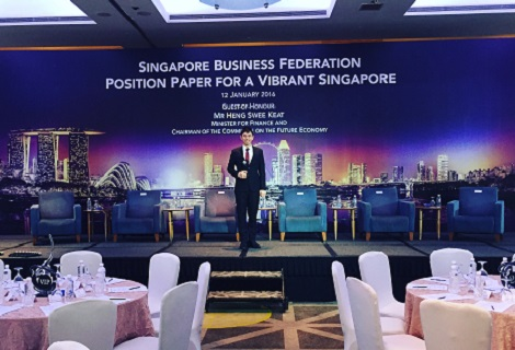 Corporate event emcee Singapore Lester Leo for Singapore Business Federation