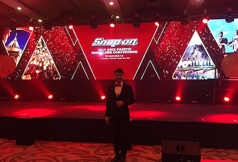 Corporate event emcee Singapore Lester Leo for Snap On