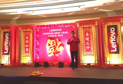 Corporate event emcee Singapore Lester Leo for lenovo