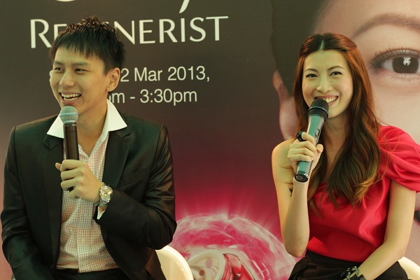 Event Host lester with celebrity jeanette aw