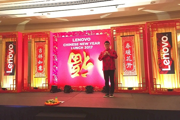 Event host singapore lester leo for chinese new year event