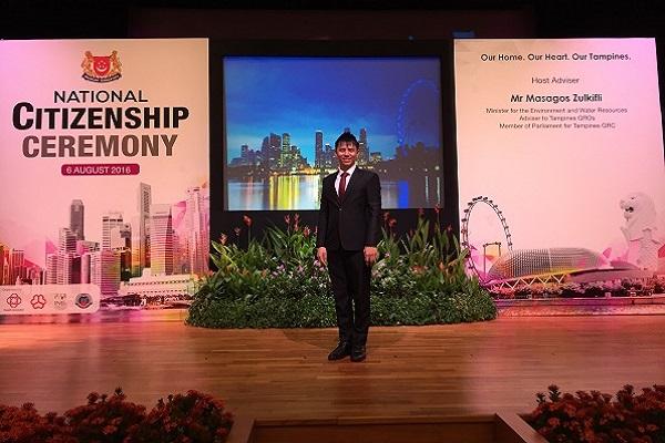 event host singaporre lester leo emcee national citizenship ceremony