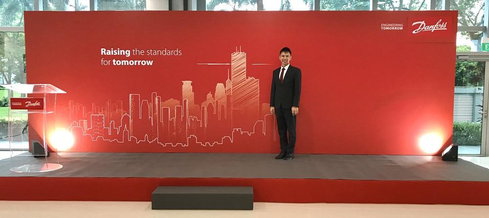 Danfoss Official opening Singapore - Emcee Lester Leo