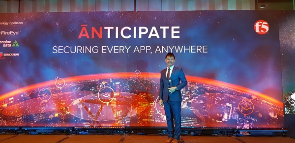 F5 Anticipate conference 2018 with emcee lester