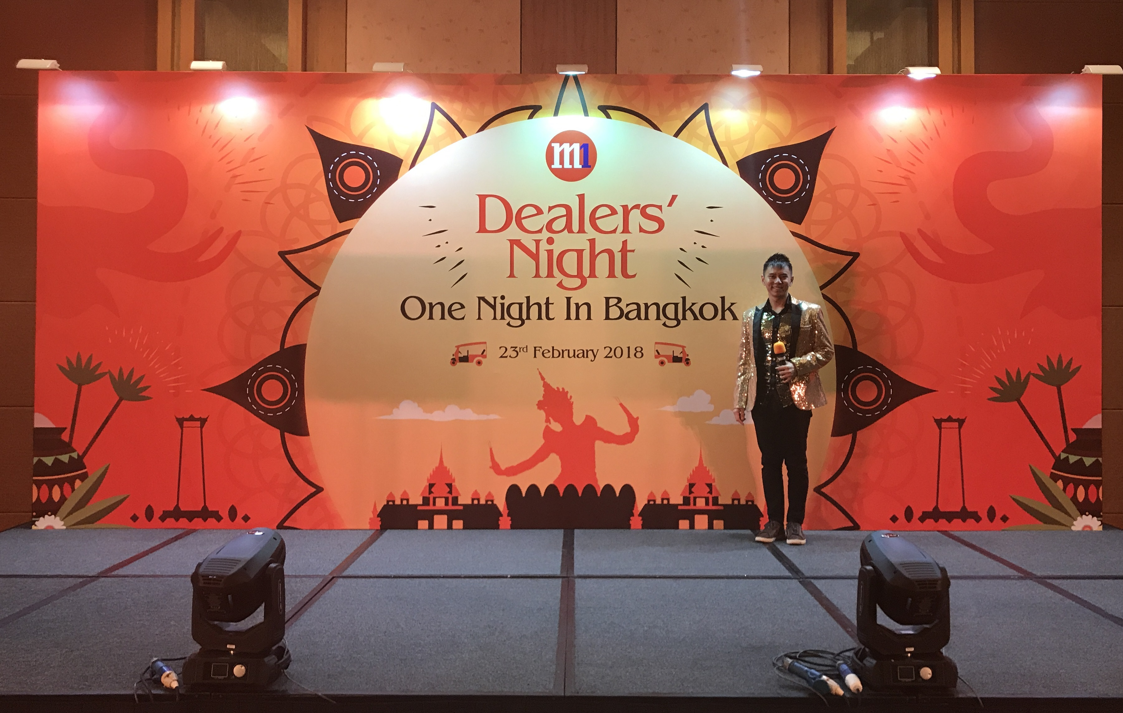 M1 Dealers Night 2018 hosted by emcee lester