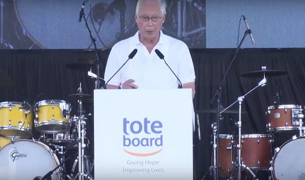 Tote Board a good day out Goh Chok Tong with Emcee Lester Leo