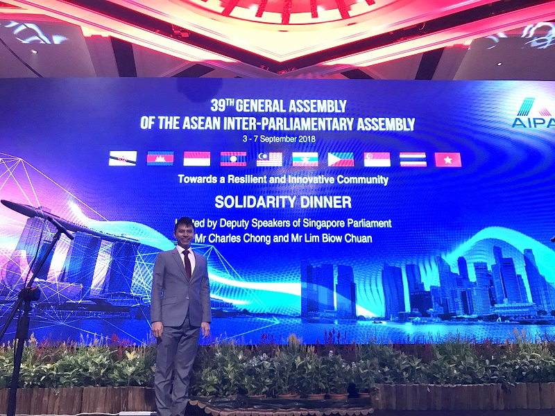ASEAN Inter-Parliamentary Assembly (AIPA) - Emcee Lester Leo