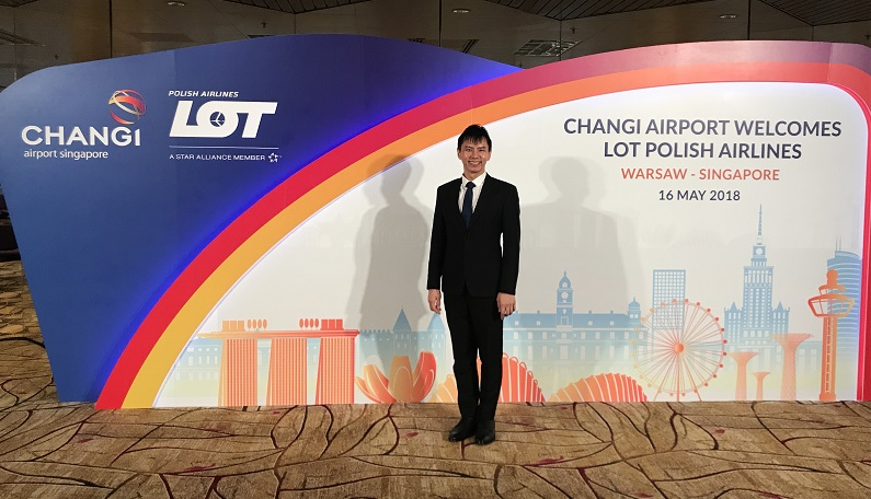 LOT Polish airlines inaugural flight into Singapore - Emcee Lester Leo