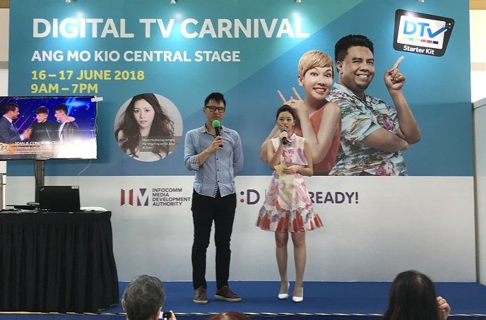 DTV Roadshow carnival with mediacorp celebrity he ying ying