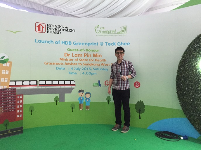 HDB Launch of HDB Greenprint - government event