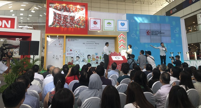 HDB innovation festival launch - minister lawrence wong - government community roadshow event