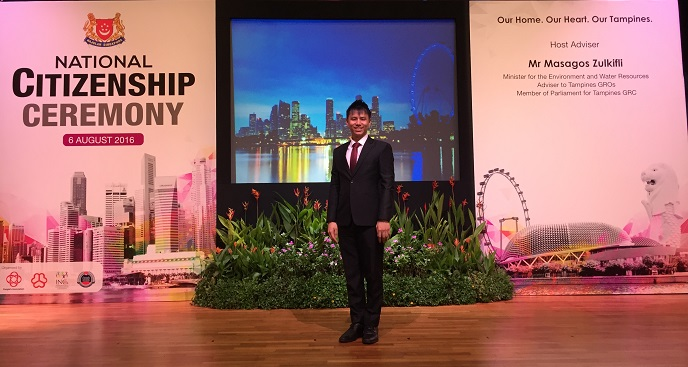 National Citizenship Ceremony - Government event hosted by emcee lester