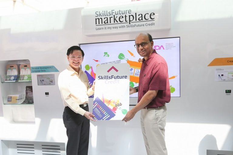 launch of skillsfuture roadshow with DPM Tharman - government event
