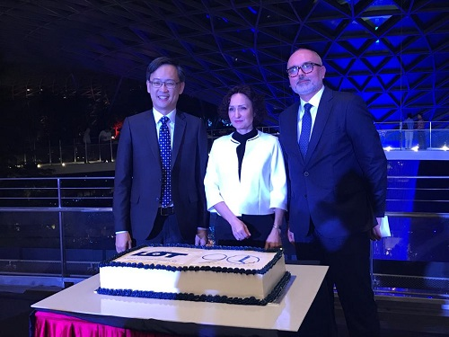 Lot polish airlines 90th anniversary at Jewel Changi Airport