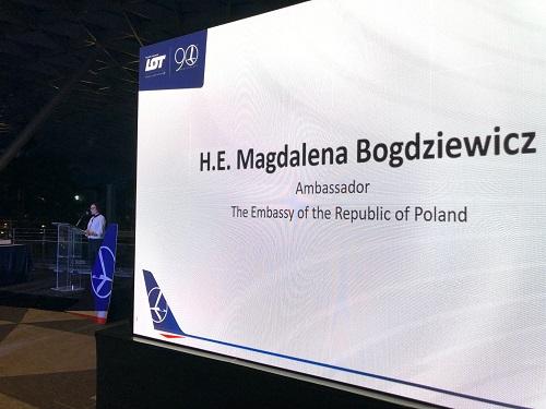 Lot polish airlines 90th anniversary with H.E Magdalena Bogdziewicz at Changi