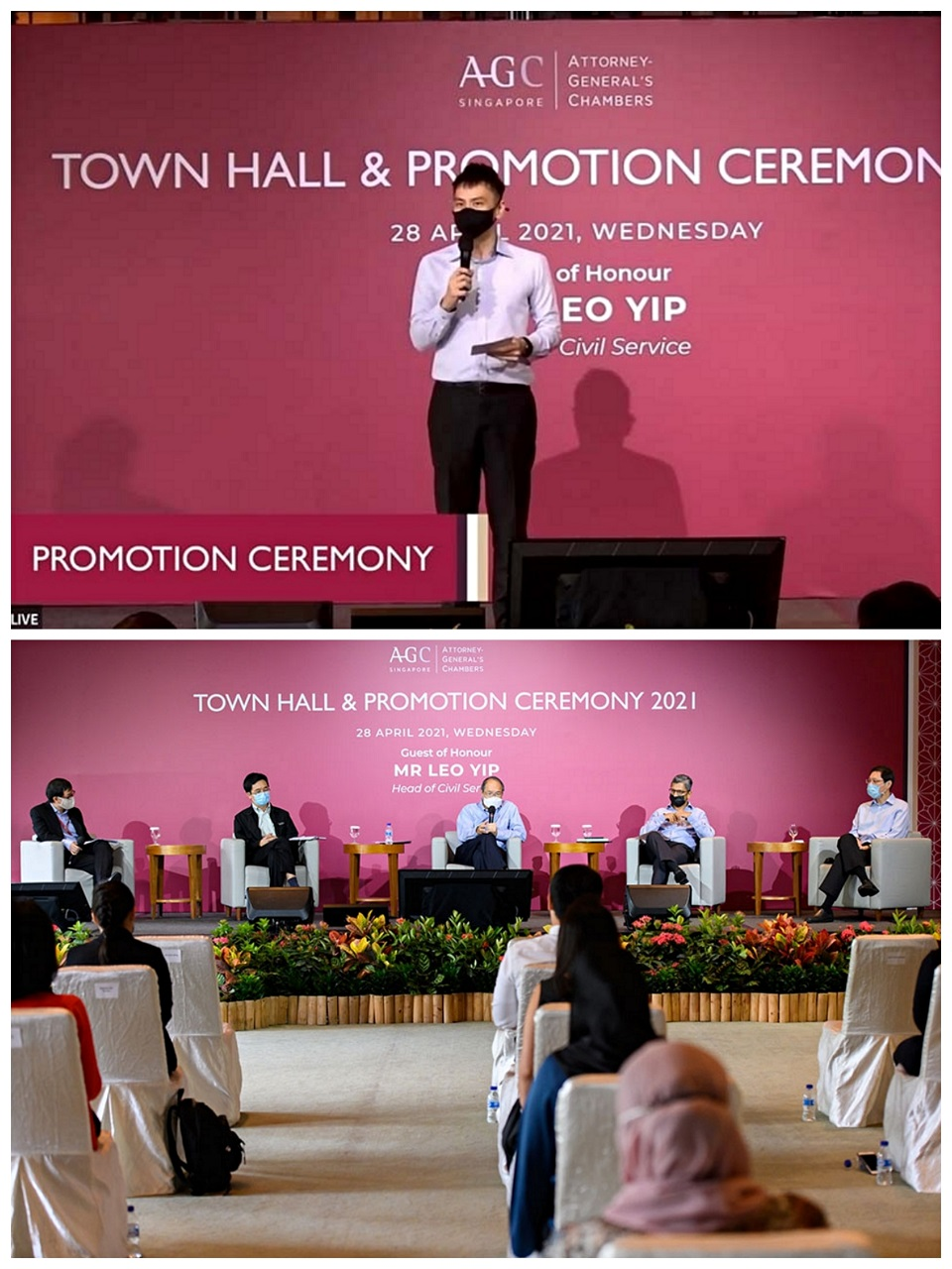 AGC townhall and promotion ceremony - hybrid event emcee lester leo