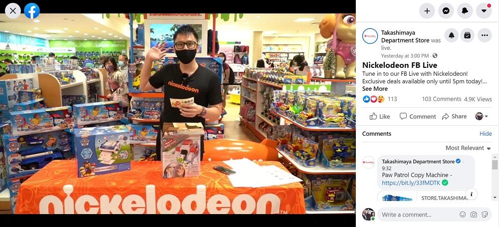 Fb Live - Takashimiya x Nickelodeon FB live sales emcee lester