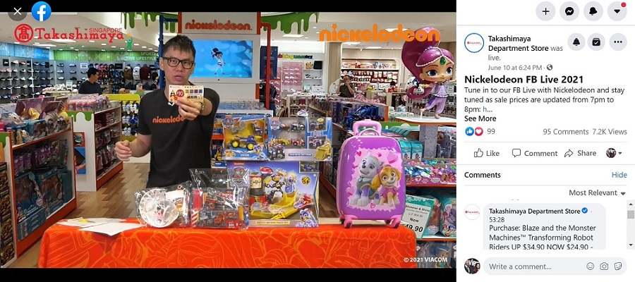 Fb live selling emcee - Takashimaya x Nickelodeon Facebook live event
