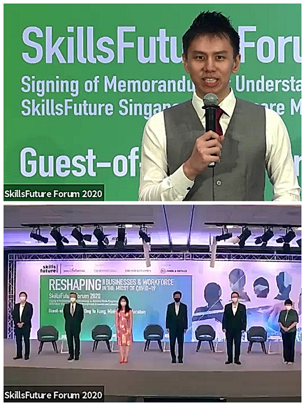 Skillsfuture Forum 2020 - Hybrid event (online virtual event and live event) - Emcee Lester
