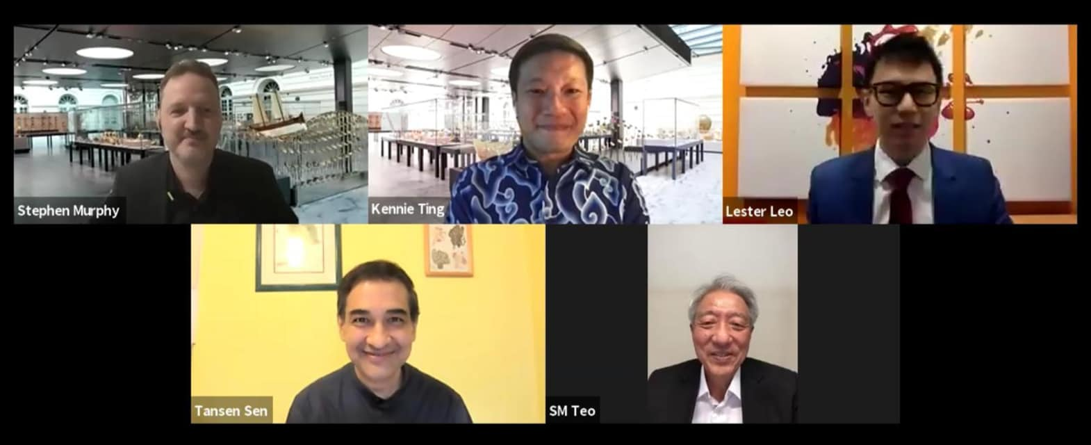 Virtual webinar event with Senior Minister Teo Chee Hean