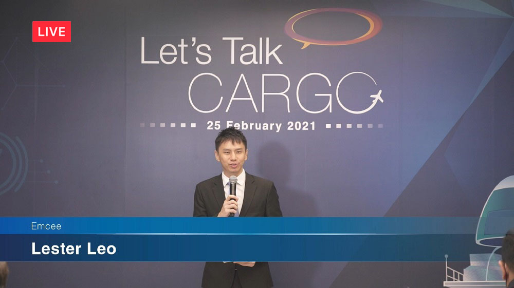 Zoom webinar with Changi Airport Group - Emcee Lester Leo