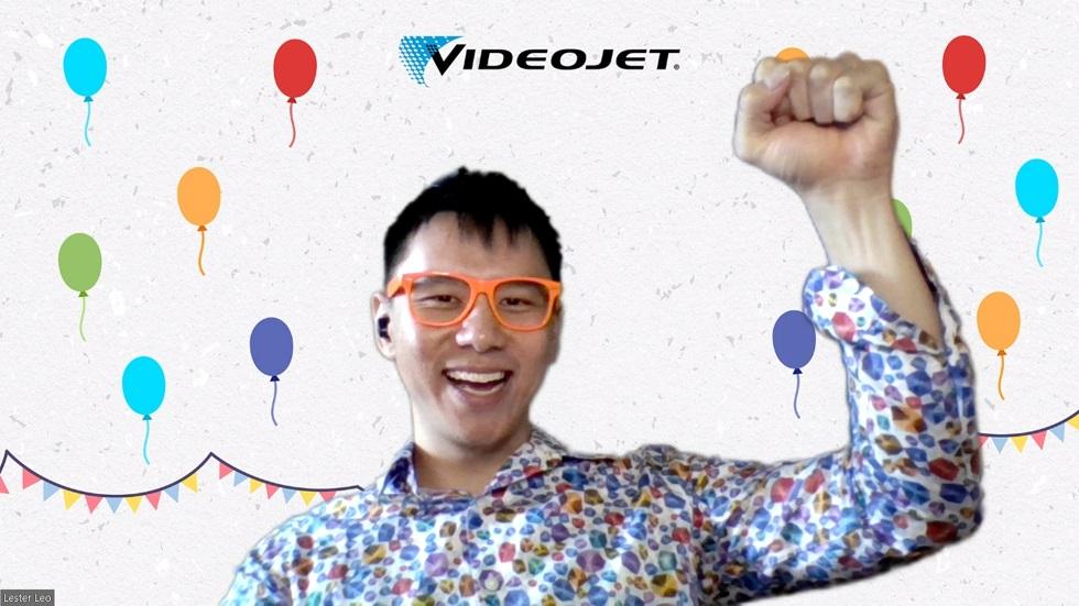 virtual event emcee lester leo - Videojet celebration time event