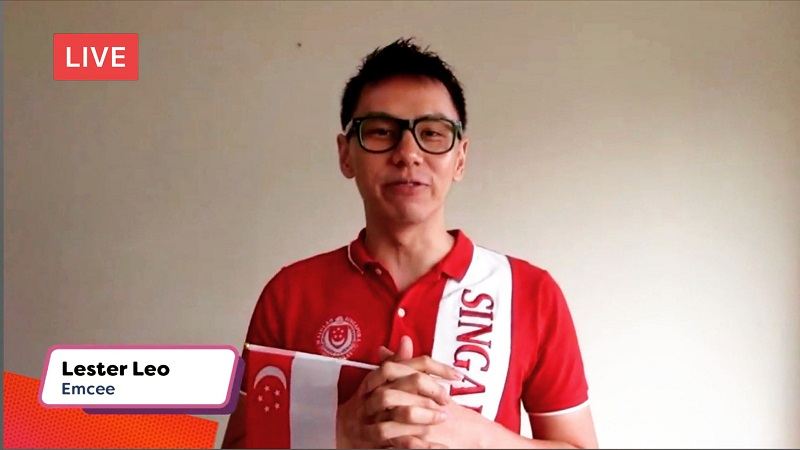 Clementi National Day Virtual Live with emcee singapore lester leo
