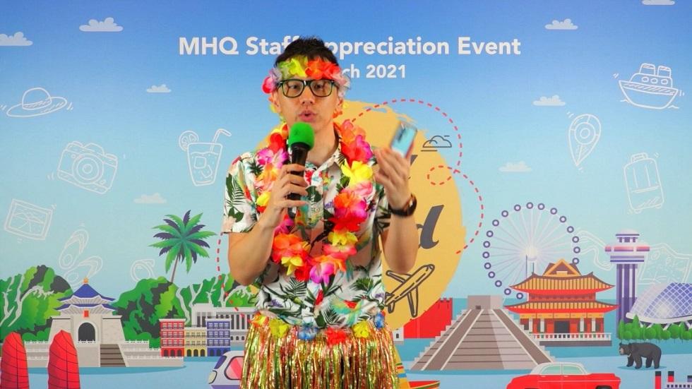 MHQ staff appreciation event - virtual event emcee lester