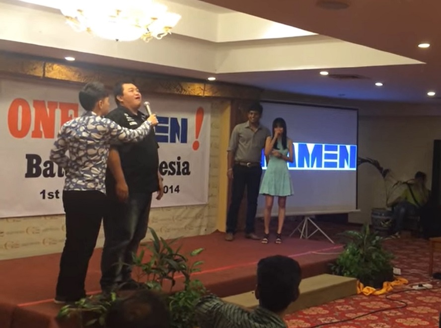 Damen shipyards event in Batam Indonesia - emcee lester