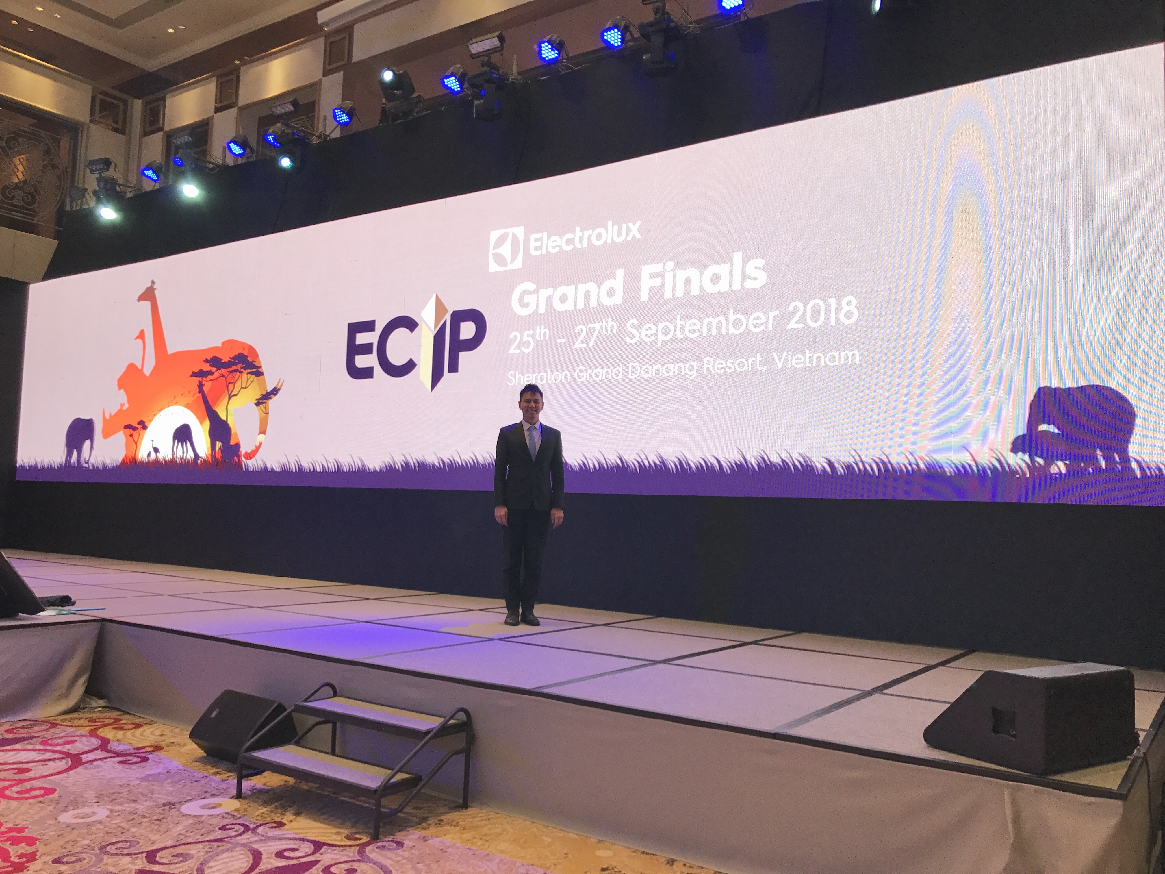 Electrolux grand finals in Da Nang Vietnam - overseas South east asia event emcee lester