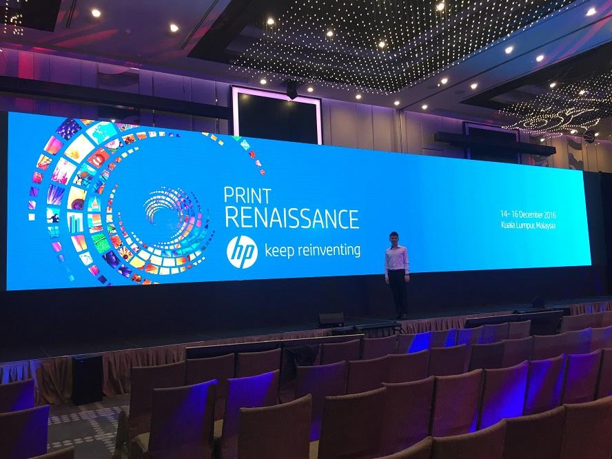 HP Print renaissance overseas event in Kuala Lumpur malaysia - emcee lester