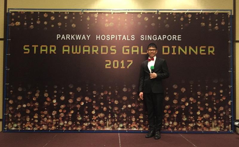 Parkway Hospitals overseas event Malacca Malaysia - Emcee Lester Leo