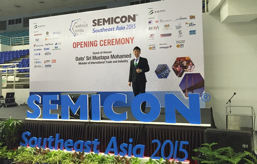 Semicon in Penang Malaysia - emcee lester