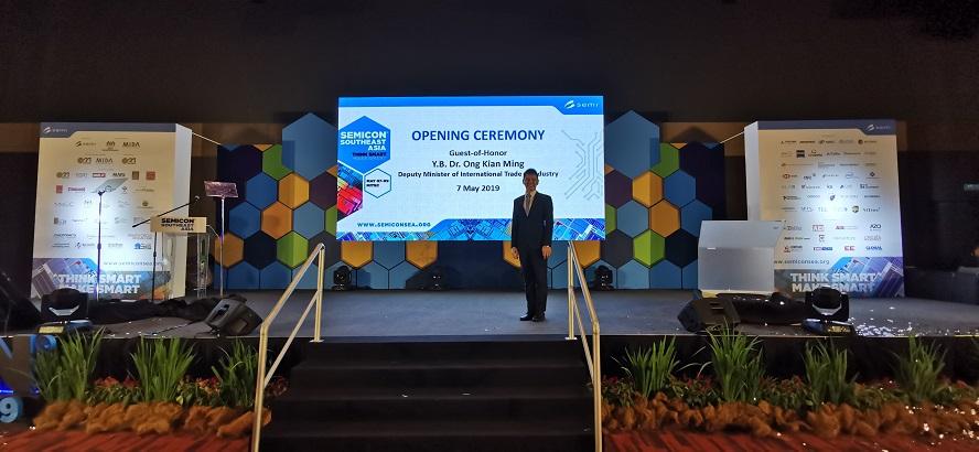 Semicon south east asia event in Kuala lumpur KL malaysia - emcee lester