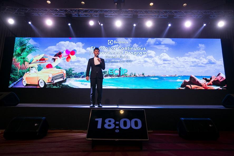 electrolux continous improvement program international event in Bangkok - emcee lester